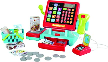 Electronic Till Cash Register Toy Shop Supermarket Pretend Play Food Shopping