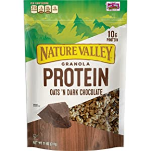 Nature Valley Granola, Protein Oats and Dark Chocolate, 11 oz