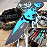 KCCEDGE BEST CUTLERY SOURCE EDC Pocket Knife Camping Accessories Razor Sharp Edge Flame Skull Folding Knife Camping Gear…