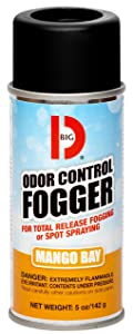 Big D 374 Odor Control Fogger, Mango Bay Fragrance, 5 oz (Pack of 12) - Kills odors from fire, flood, decomposition, skunk, cigarettes, musty smells - Ideal for use in cars, property management, hotels