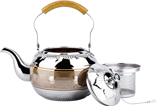for Coffee Milk Tea Camping Household Items Funarrow Stainless Steel Coffee Teapot Dish Warmers Round Coffee Heating Teapot Holder Not Easy to Rust Durable