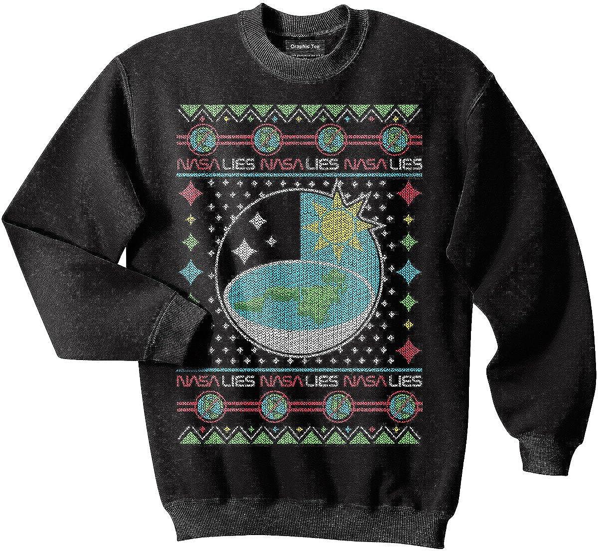 Amazon.com: Flat Earth sweatshirt, NASA, Earth is flat sweatshirt ...