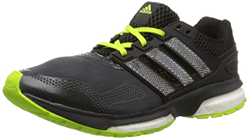 adidas Response Boost 2 Techfit Mens Running Sneakers/Shoes-Black-6.5