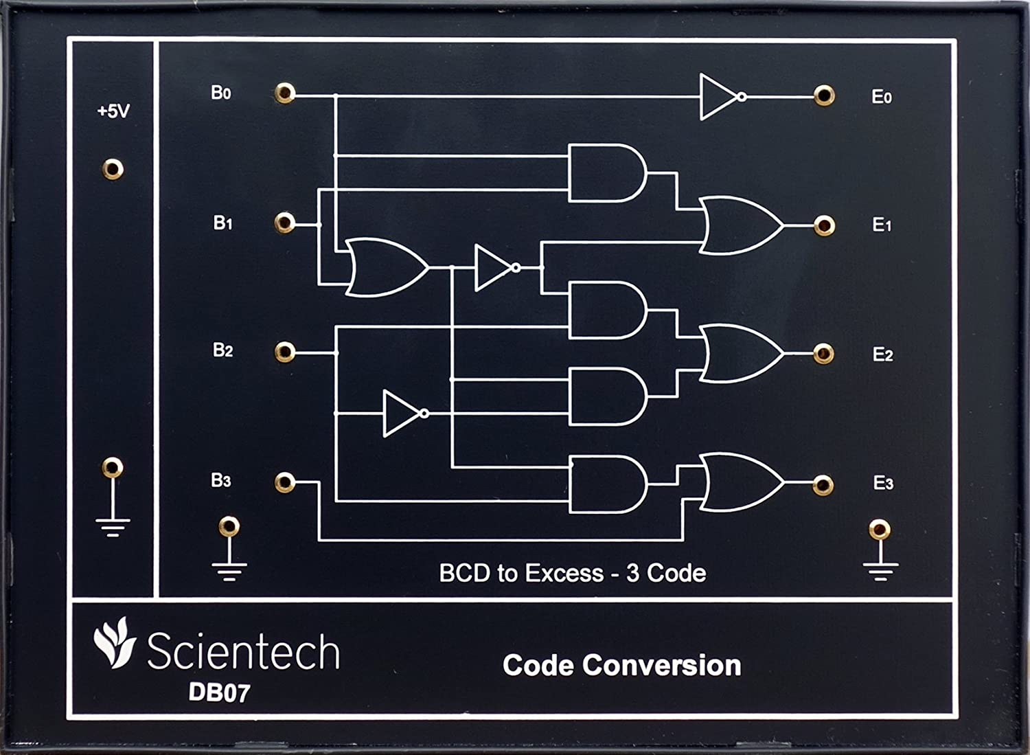 Db07 Code Conversion Bcd To Excess 3 Experiment Board And Schematic For Converting Trainer Kit With 1 Year Warranty