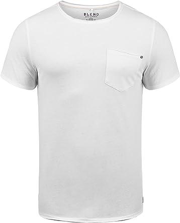 BLEND Flix Camiseta Básica De Manga Corta T-Shirt para Hombre con ...
