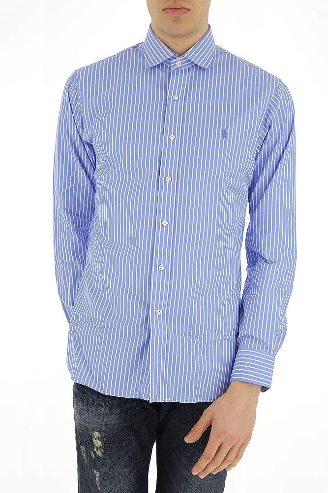 Ralph Lauren Luxury Fashion Hombre 712696063001 Azul Claro Camisa ...
