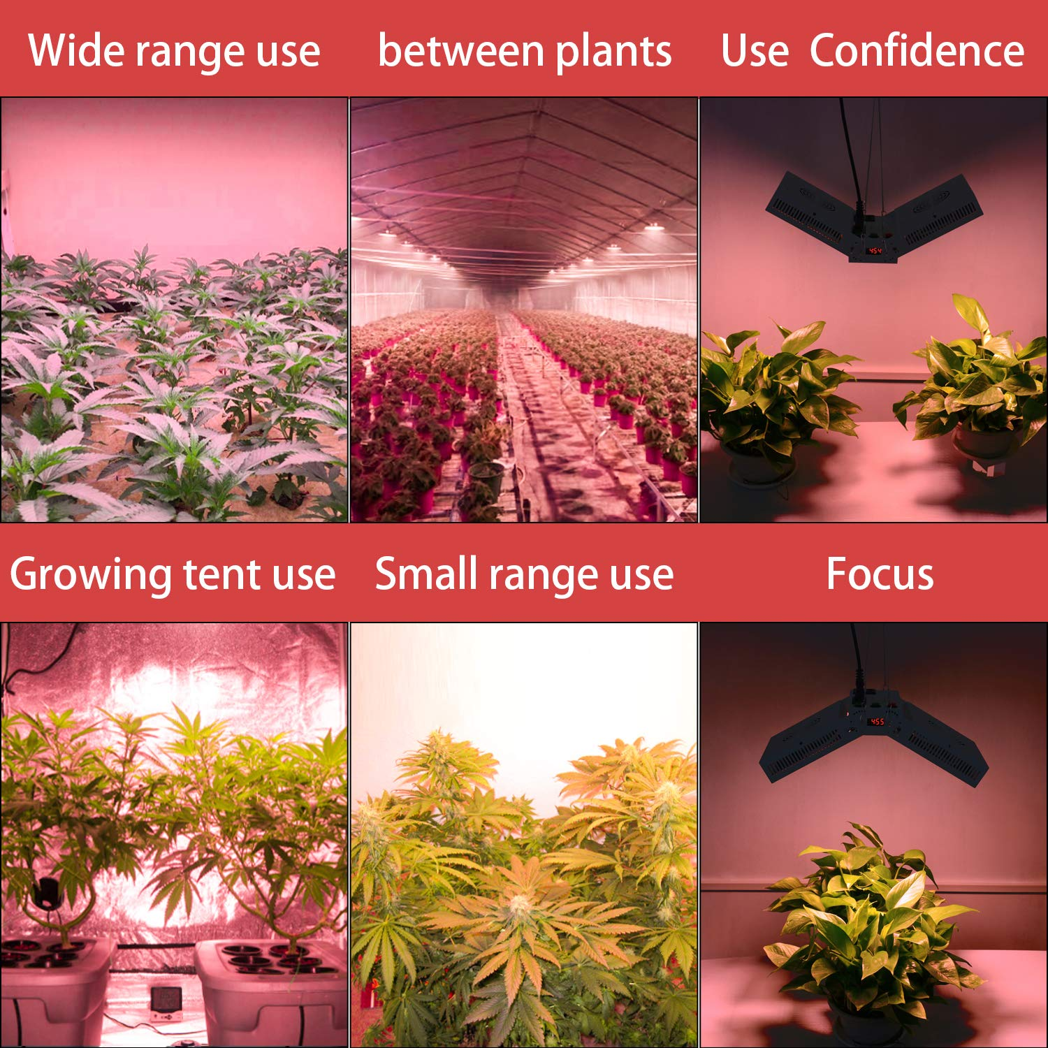LED Grow Light 1000W Full Spectrum Growing Lamp LED for Indoor Plants Vegetables and Flowers LED Light Programmable Digital Electric Timer Switch Angle of Illumination Adjustable