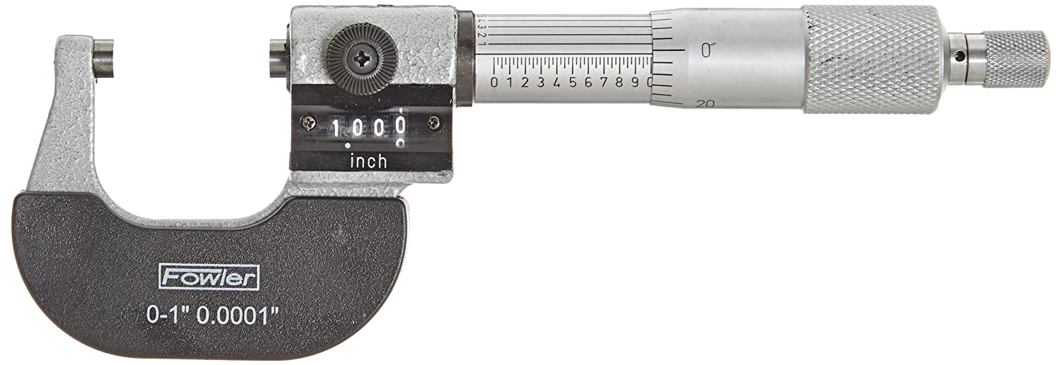 "Fowler Full Warranty Inch Digit Outside Micrometer, 52-224-001-0, 0-1"" Measuring Range, 0.0001"" Graduation 0-1"" Measuring Range 0.0001"" Graduation Fred V. Fowler Company Inc."