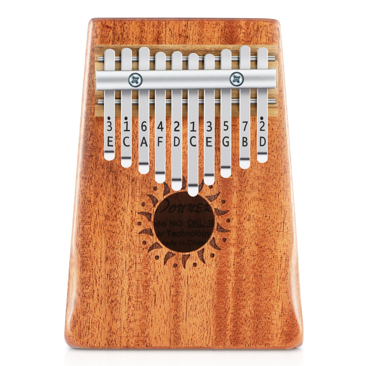 Donner 10 Key Kalimba Thumb Piano Solid Finger Piano Mahogany Body DKL-10 by Donner (Image #3)