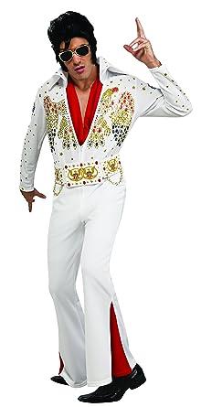 Elvis Now Deluxe Aloha Elvis Costume White Small  sc 1 st  Amazon.com & Amazon.com: Elvis Now Deluxe Aloha Elvis Costume: Clothing