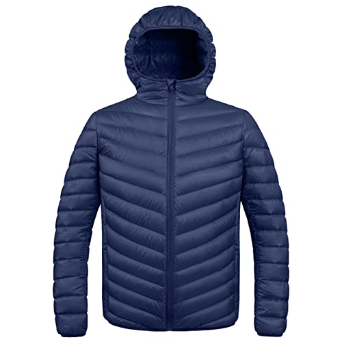 ZSHOW Mens Winter Hooded Packable Down Jacket