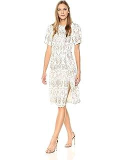 9f14d3a709 Dear Drew by Drew Barrymore Women s Elizabeth Street Short Sleeve Pleated  Dress