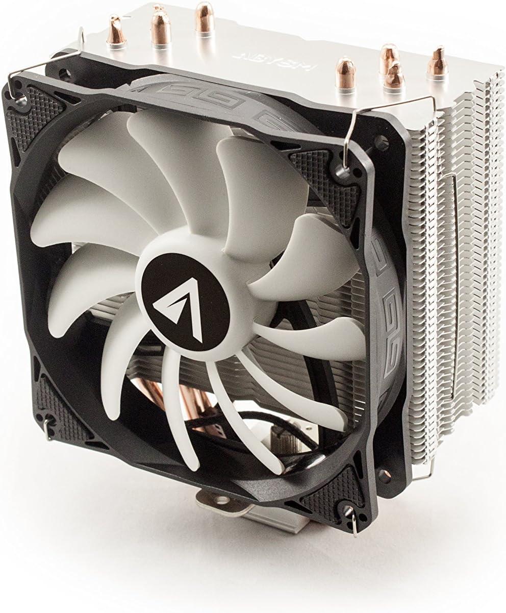Abysm Snow IV - Ventilador CPU de 4 Heatpipes, Color Negro: Amazon ...