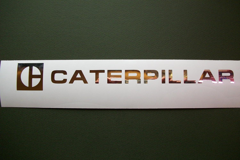 Amazon com caterpillar chrome decal 1 1 2 x 12 vintage sticker for shop garage man cave automotive