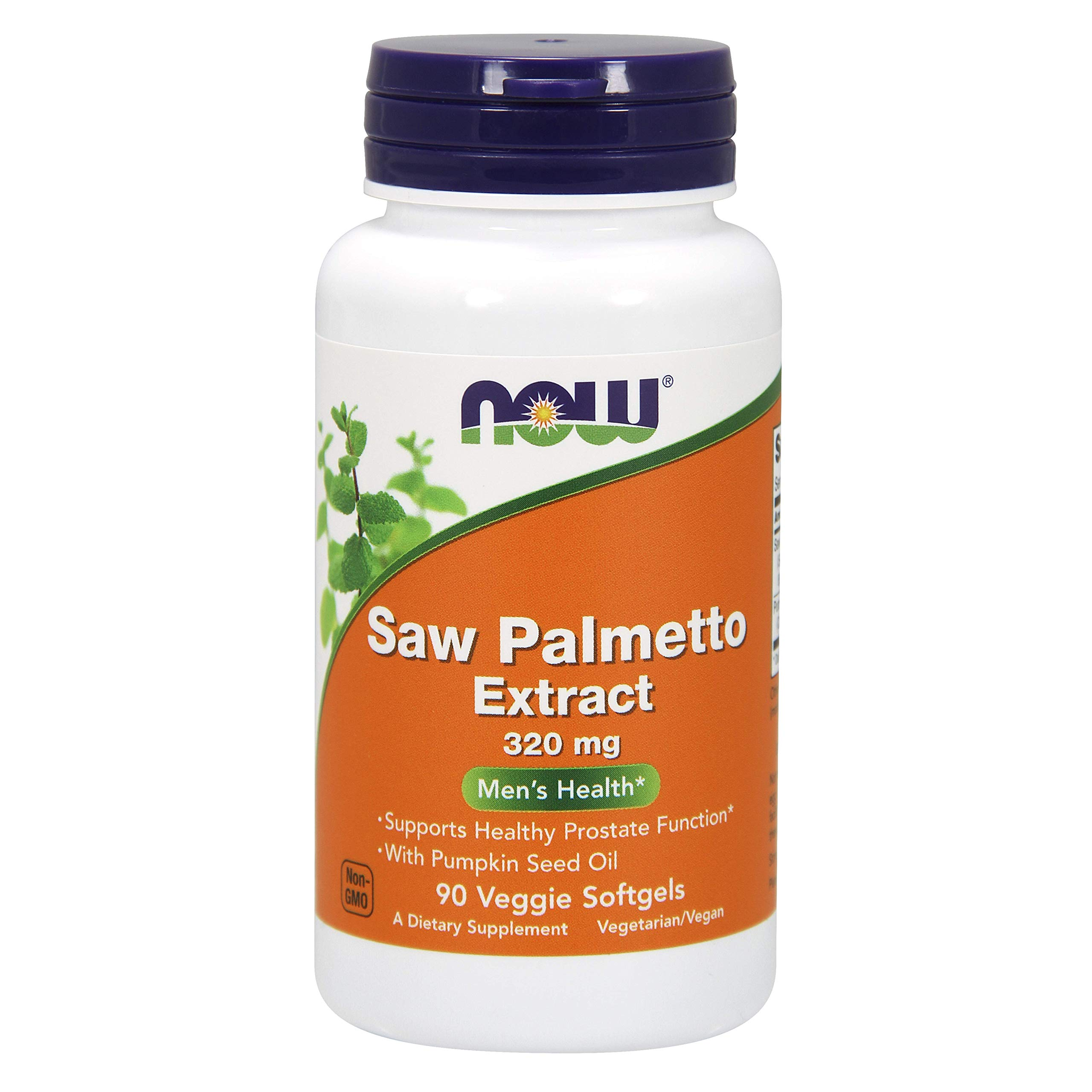 Now Foods Saw Palmetto Extract 320 mg - 90 Softgels (Pack of 2) - 180 Total Softgels