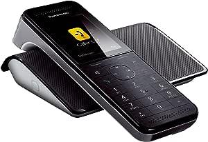 Panasonic KX-PRW110- Teléfono (DECT, Escritorio, Negro, LCD, AAA, Polifónico) [versión importada]: Amazon.es: Electrónica