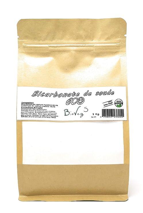 BioVeg5 - Bicarbonato de soda (1 kg, ECO, extra fino, bolsa ...