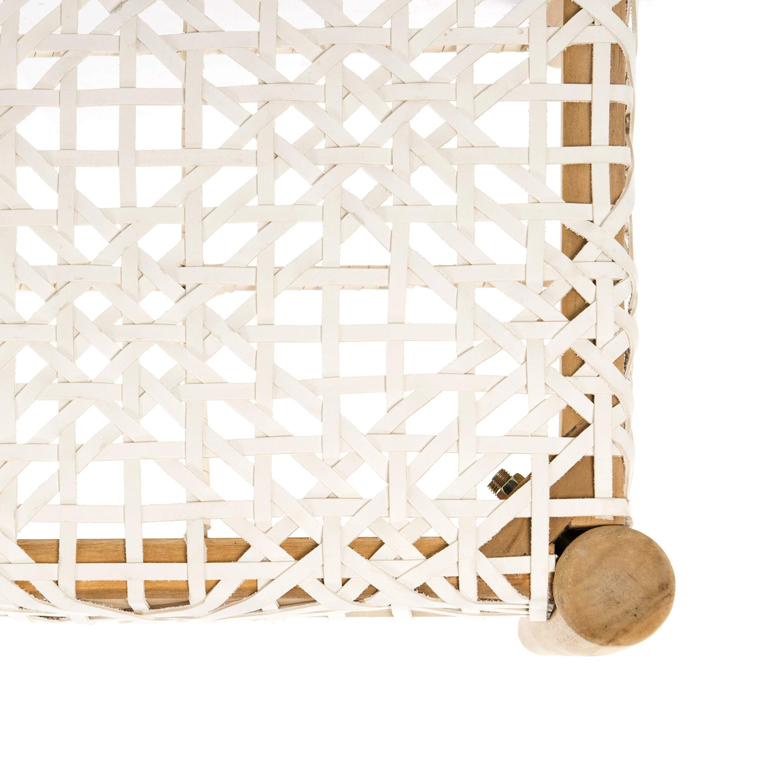 Safavieh BCH1000A Home Collection Bandelier Bench, Off- Off-White/Natural by Safavieh (Image #3)