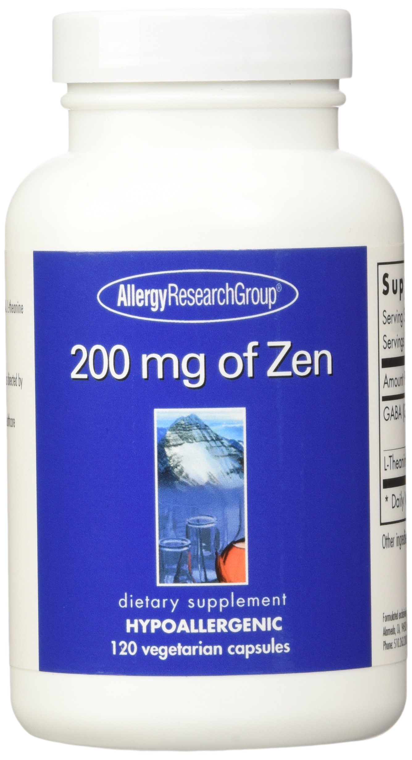 Allergy Research Group 200 Mg of Zen -- 120 Vegetarian Capsules