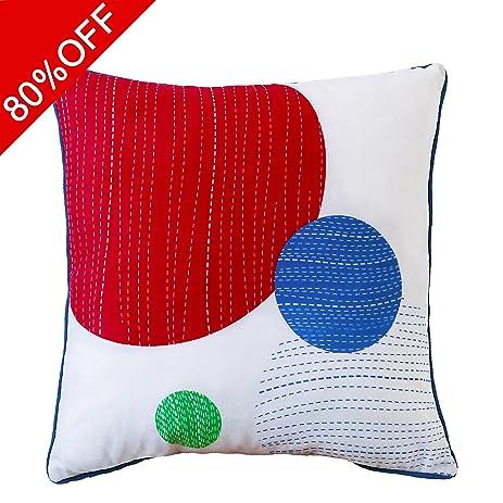 Amazon Valery Madlyn MultiColor Decorative Pillow Cover 40x40 Best Multi Color Decorative Pillows
