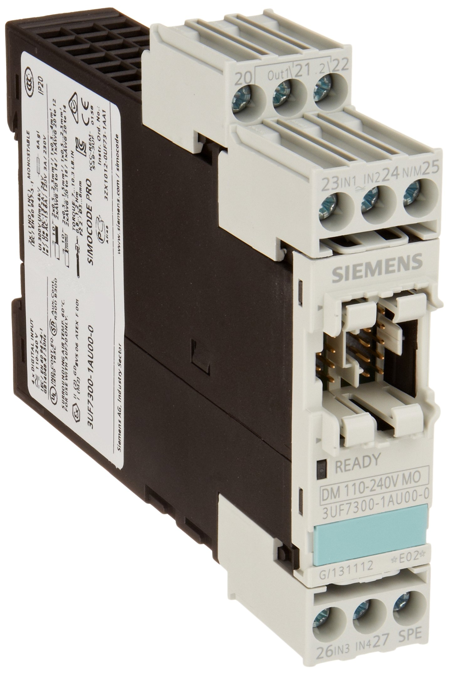 Siemens 3UF7 300-1AU00-0 SIMOCODE Digital Module Relay Output, Monostable, 110-240VAC/DC Input Voltage