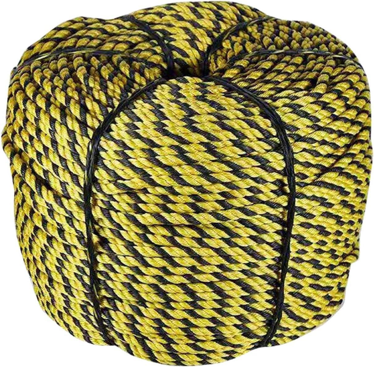ZHWNGXOlian Cuerda Bicolor Negra Y Amarilla Larga De La Cerca ...