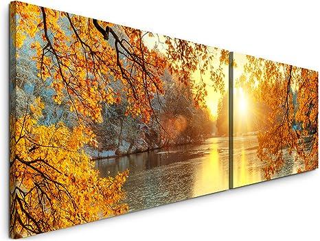 schöne bunte Bäume Wandbild in verschiedenen Größen