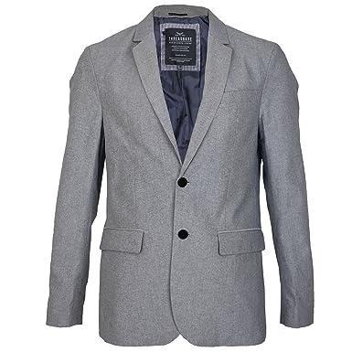 1b2d6399dc1 Mens Threadbare Plain Blue Oxford Thin Summer Jacket Blazer Casual Dinner  Coat  Amazon.co.uk  Clothing
