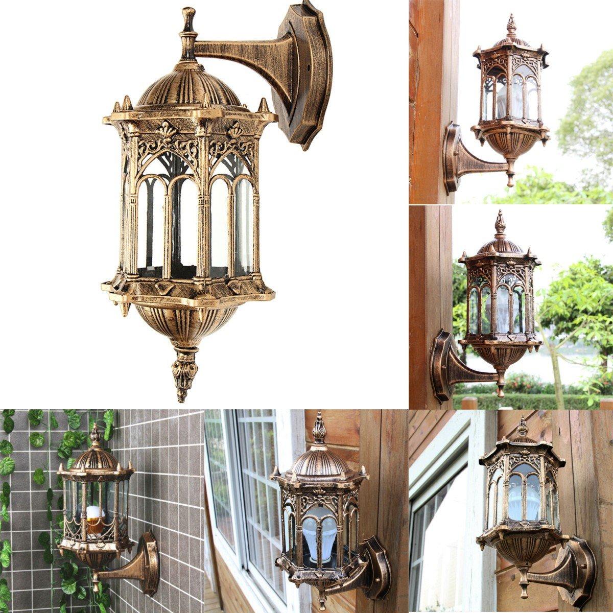 DADEQISH Outdoor Bronze Antike Außenwandleuchte Aluminium Laterne Gartenlampe Innenlicht