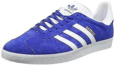 adidas Gazelle, Baskets Homme, Bleu (Collegiate Royal/White/Gold Metallic 0