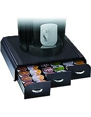 Mind Reader Cajón de Almacenamiento Café Pod para Dolce Gusto, Keurig K -Cup, Verismo y CBTL Cápsulas, color Negro