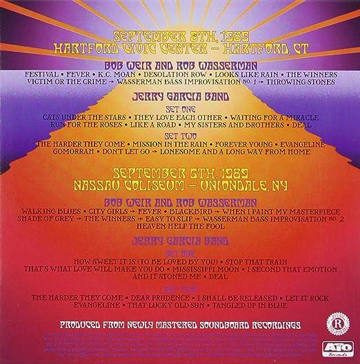 Bob Weir And Rob Wasserman Jerry Garcia Band Fall 1989 The Long