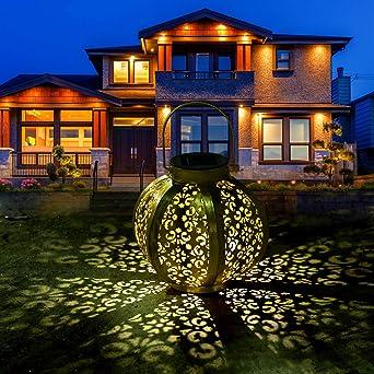 Farol Solar para Exteriores - Luces de Linterna Solar Luz Colgante ...