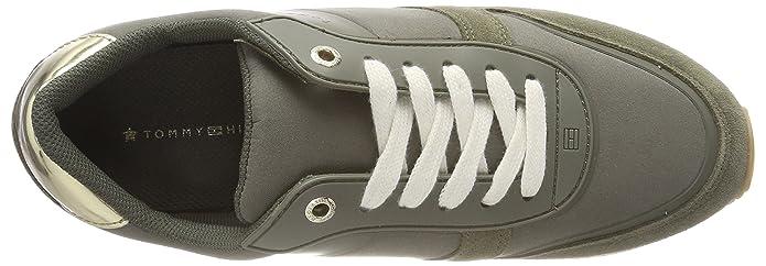 42944f3a575497 Tommy Hilfiger Damen Mixed Material Lifestyle Sneaker  Amazon.de  Schuhe    Handtaschen
