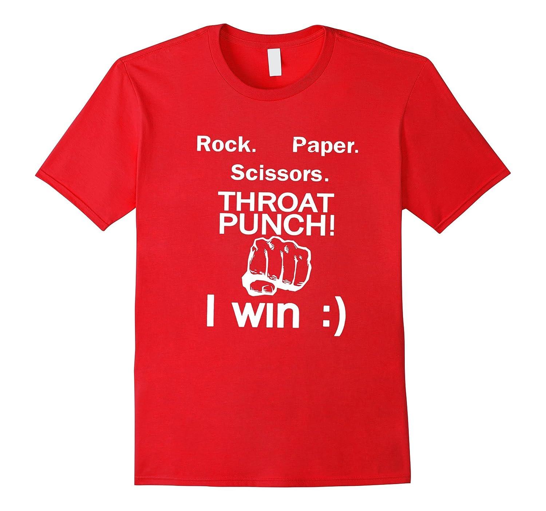 Rock Paper Scissors Throat Punch I win Shirt - Dark shirt