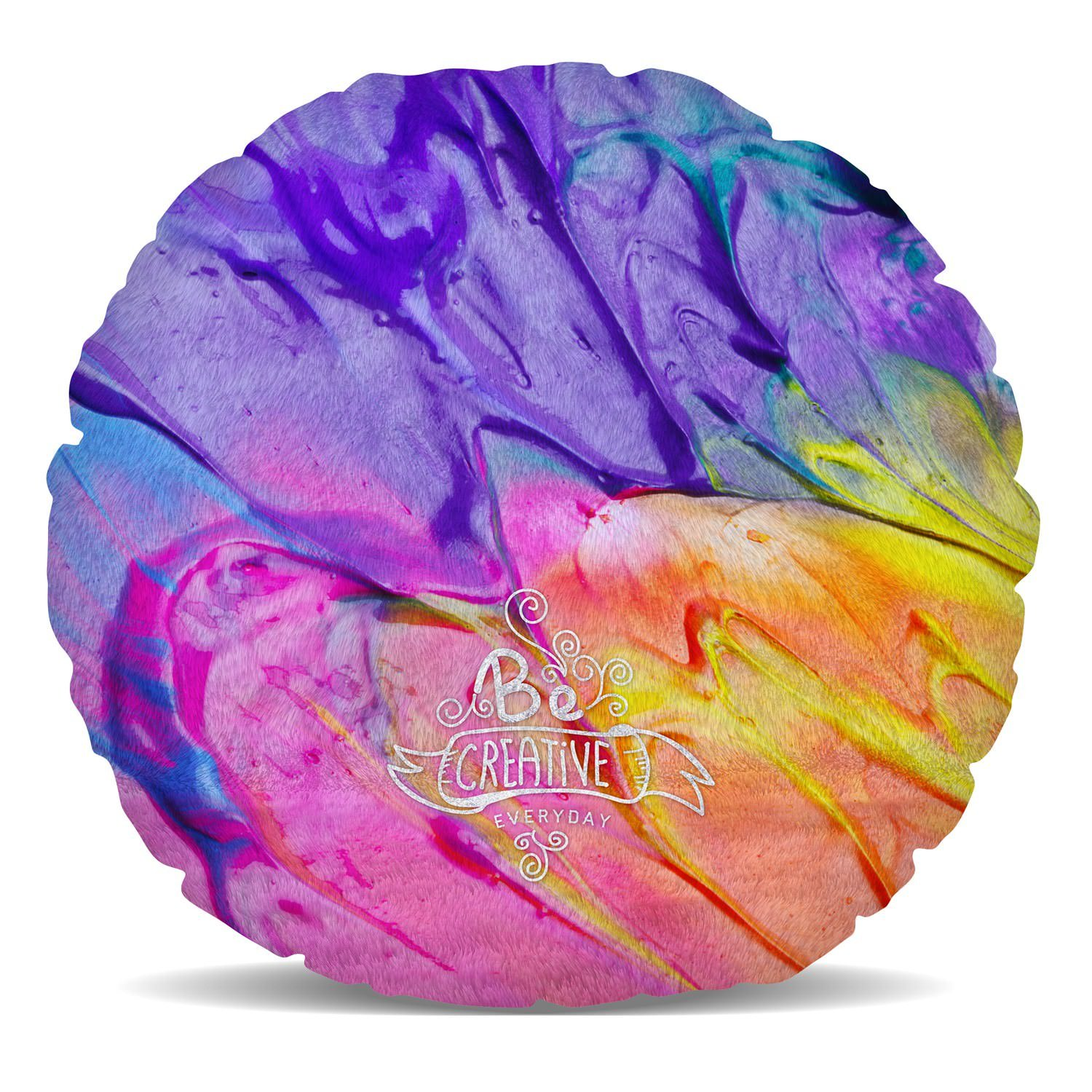 Queen of Cases Be Creative Every Day Fleece Cushion - Heart Cushion - 16in by Queen of Cases (Image #3)