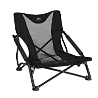Cascade Mountain Tech Compact Low Profile Outdoor Folding Camp Chair, Portable, Lightweight, and Durable with Carrying Bag