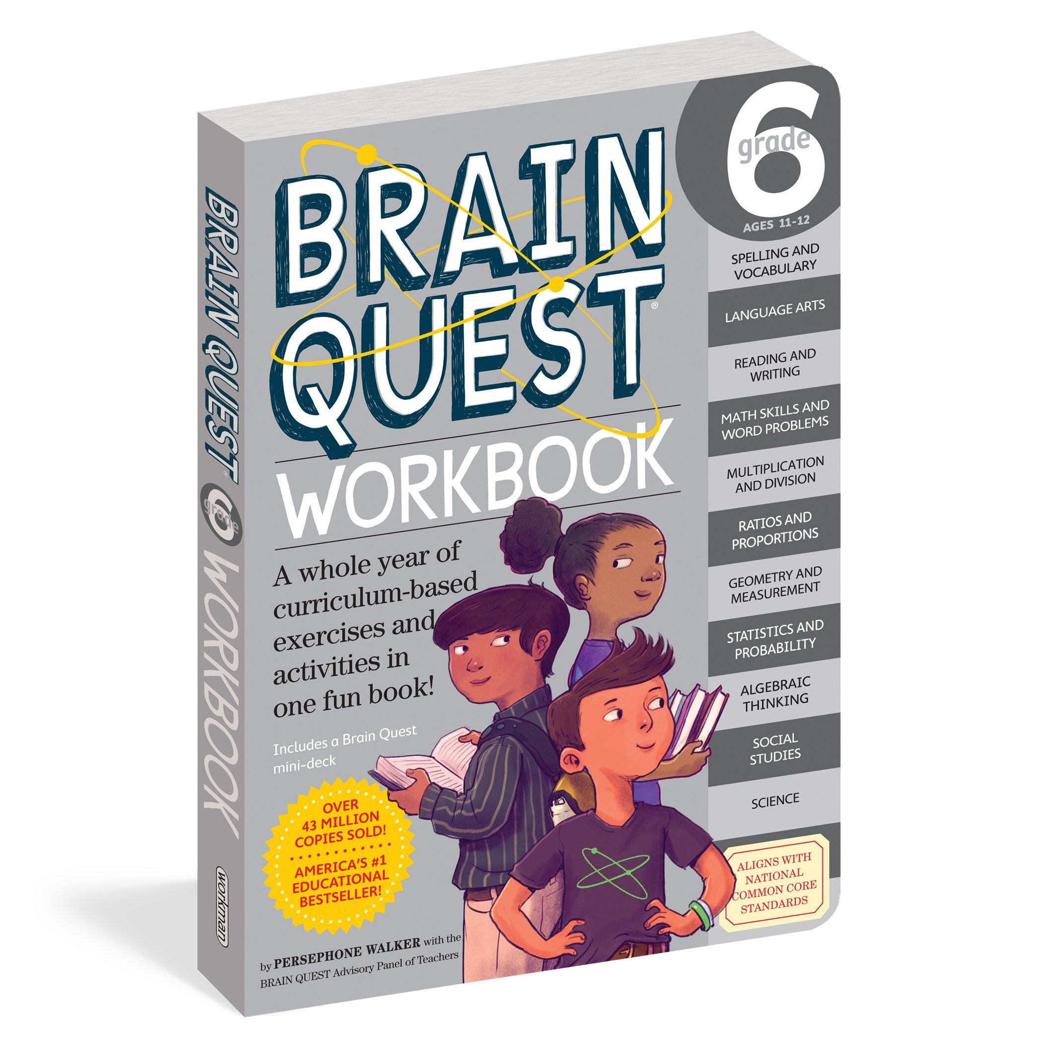 Brain Quest Workbook Grade 6 Persephone Walker Nick Thornborrow