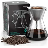 Coffee Gator Paperless Pour Over Coffee Dripper Brewer 14oz Clear