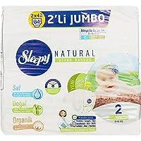 Sleepy Natural 2'li Bebek Bezi, 2 Beden, Mini, 84 Adet