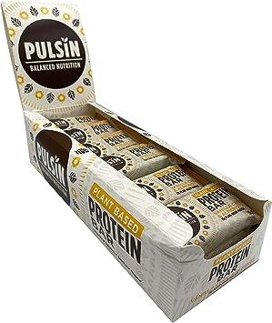 Pulsin Barrita Proteica de Almendra, Anacardo y Chocolate con Proteínas Vegetales - 18 Barras