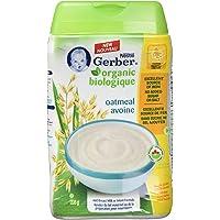 GERBER ORGANIC CEREAL Oatmeal, 6 Pack