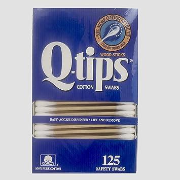 Amazoncom Q Tips Wood Sticks Cotton Swabs 125 Safety Swabs Beauty