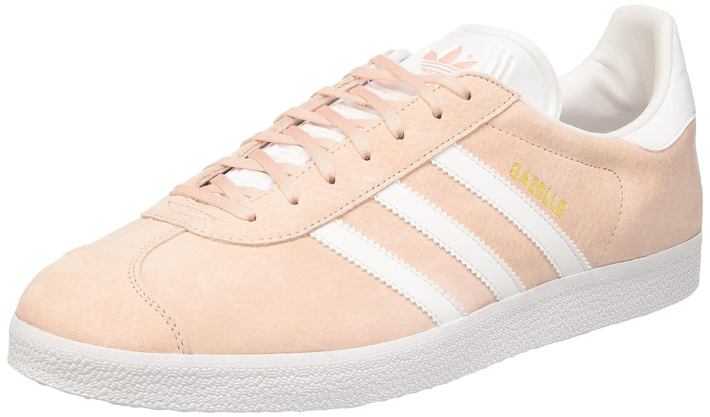 adidas Unisex-Erwachsene Gazelle Low-Top  46 2/3 EU|Pink (Vapour Pink/White/Gold Met)