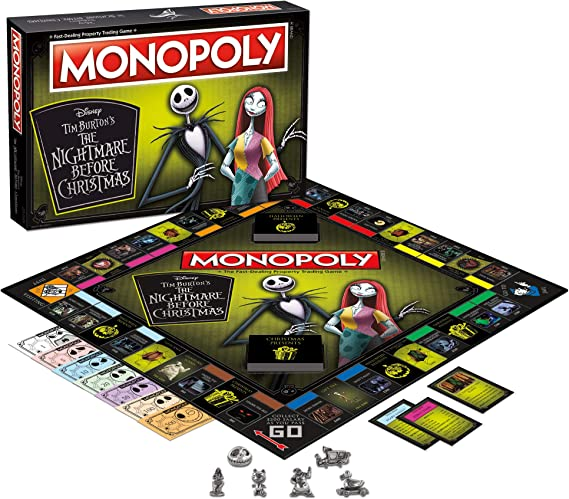 Monopoly Disney Pesadilla Antes de Navidad (2019 Ed.) Juego de Mesa | Colección Monopoly Tim Burton Nightmare Before Christmas Movie | Coleccionable Monopoly Tokens: Amazon.es: Juguetes y juegos