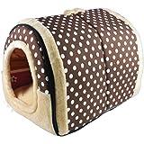 ANPI 2 In 1 Haustier Haus Und Sofa, Maschinenwaschbar Muster Anti Rutsch  Faltbare Weich
