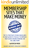 Membership sites that make money: Top 25 things to consider to start a paid membership website that generates passive income