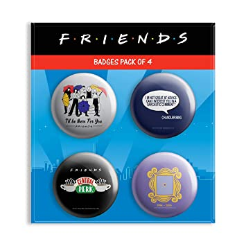 Buy MC SID RAZZ Friends TV Series Combo Pack Of 4 Round Badges