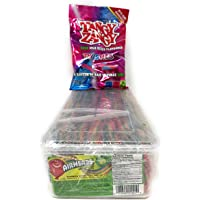 Airheads Extreme Candy - Rainbow Berry Flavor - 1.6 KG - Plastic Box and Serving Tongs Included + Tangy Zangy Sampler