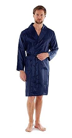 7d1512fe54 Harvey James Mens Satin Kimono Robe  Amazon.co.uk  Clothing